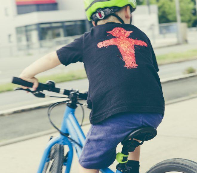 Jeg sikrer mine børn med cykellygter